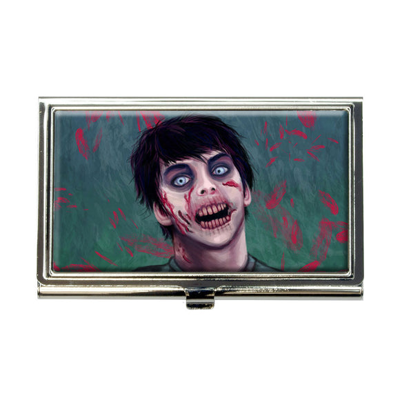 Zombified Boy Business Credit Card Holder Case