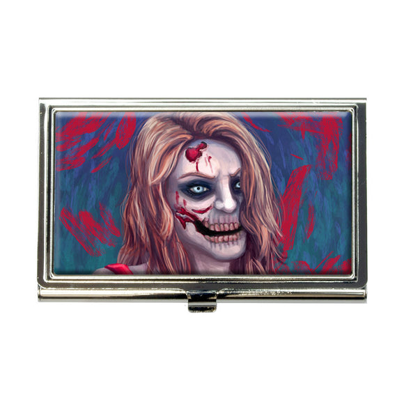 Zombified Girl Business Credit Card Holder Case