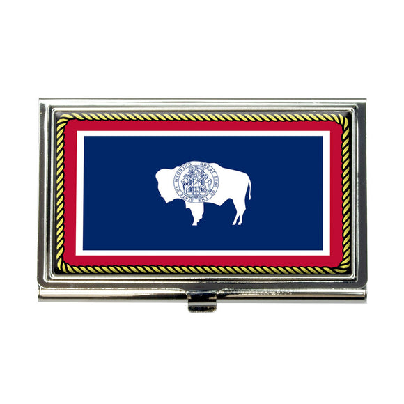 Wyoming State Flag Business Credit Card Holder Case