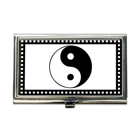 Yin Yang Symbol Business Credit Card Holder Case