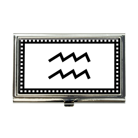 Zodiac Sign Aquarius Business Credit Card Holder Case