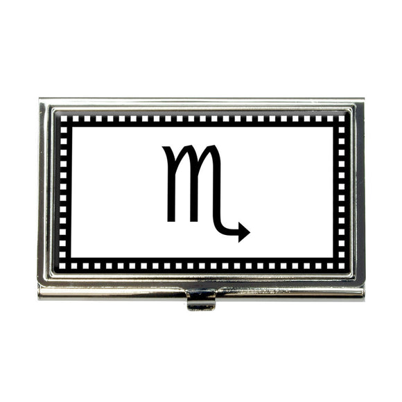 Zodiac Sign Scorpio Business Credit Card Holder Case
