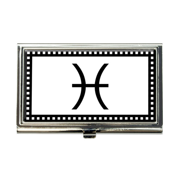 Zodiac Sign Pisces Business Credit Card Holder Case