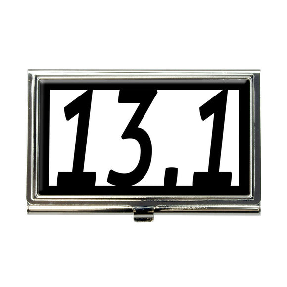 13.1 miles half marathon black Business Credit Card Holder Case