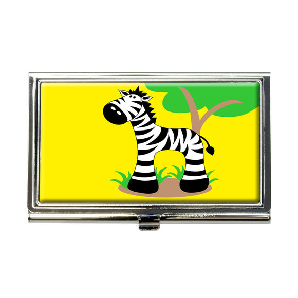 Zebra And Tree Cute Business Credit Card Holder Case