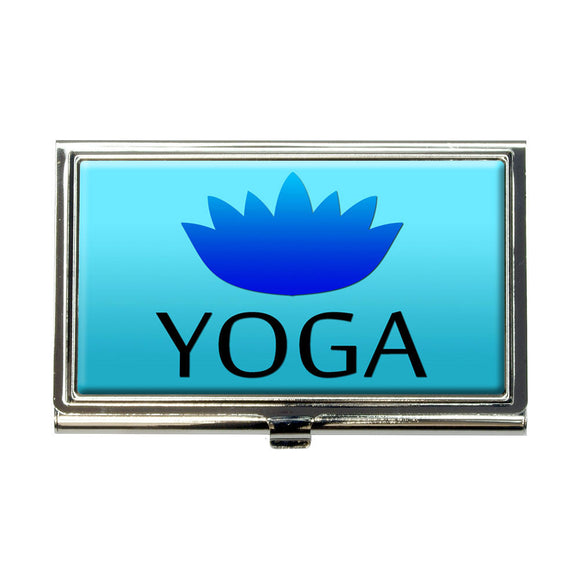 Yoga Lotus Flower Business Credit Card Holder Case