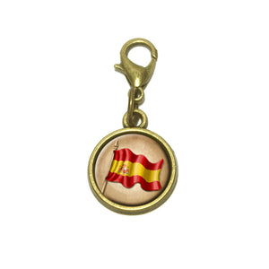 Vintage Spanish Flag Spain Cute Bracelet Pendant Charm