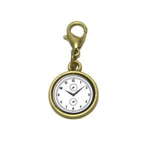 Wall Clock Basic White Black Cute Bracelet Pendant Charm