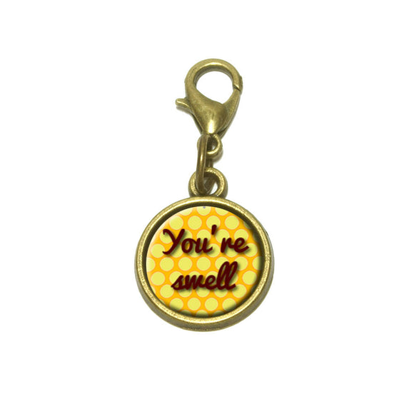 You're Swell Polka Dot Fun and Friends Cute Bracelet Pendant Charm