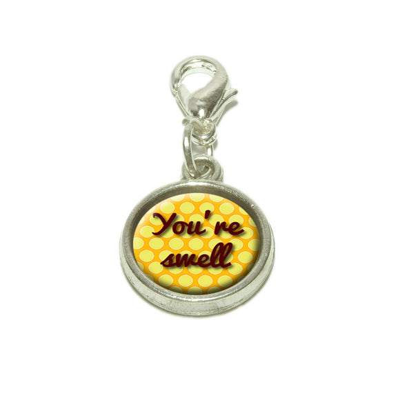 You're Swell Polka Dot Fun and Friends Dangling Bracelet Pendant Charm