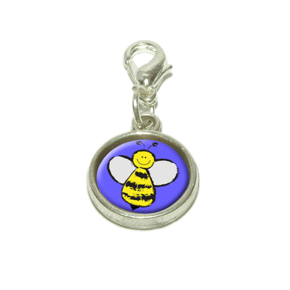 Busy As A Bee Dangling Bracelet Pendant Charm