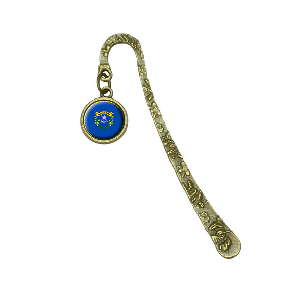 Nevada State Flag Book Bookmark Placeholder with Charm