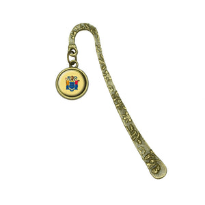New Jersey State Flag Book Bookmark Placeholder with Charm