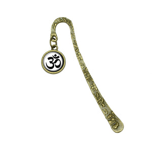 Om Symbol Book Bookmark Placeholder with Charm