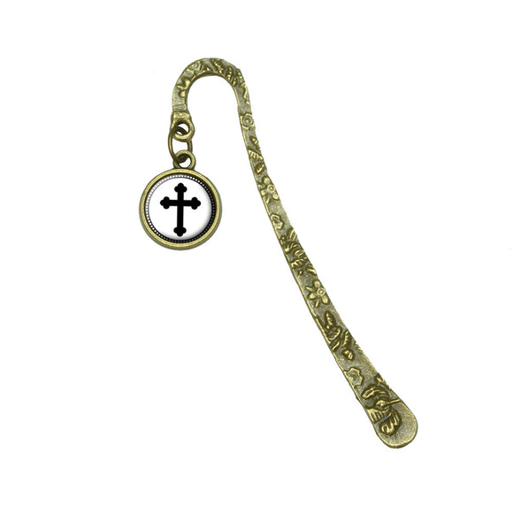 Orthodox Cross Book Bookmark Placeholder with Charm