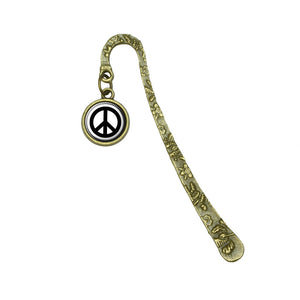 Peace Sign Book Bookmark Placeholder with Charm