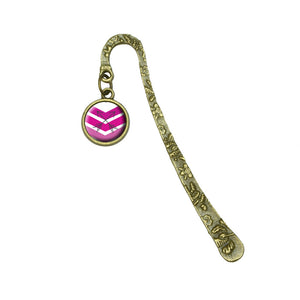 Pink Chevrons & Arrows Book Bookmark Placeholder with Charm