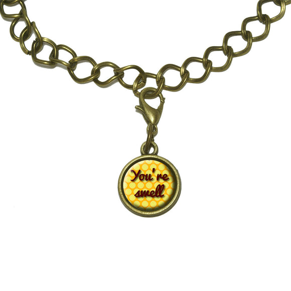 You're Swell Polka Dot Fun and Friends Charm with Chain Bracelet