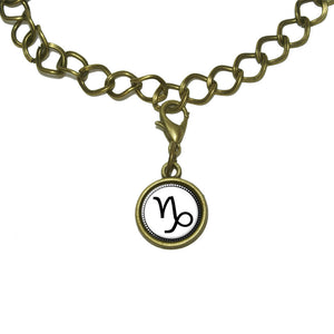 Zodiac Sign Capricorn Charm with Chain Bracelet