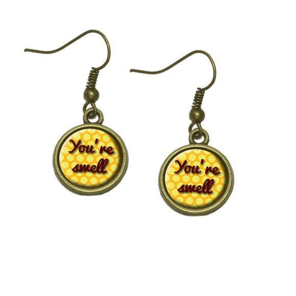 You're Swell Polka Dot Fun and Friends Dangle Dangling Drop Earrings