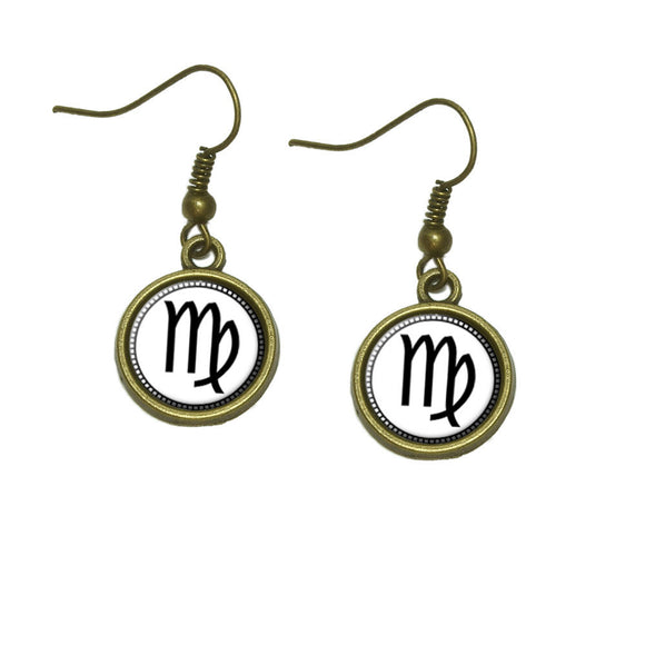 Zodiac Sign Virgo Dangle Dangling Drop Earrings