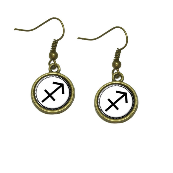 Zodiac Sign Sagittarius Dangle Dangling Drop Earrings