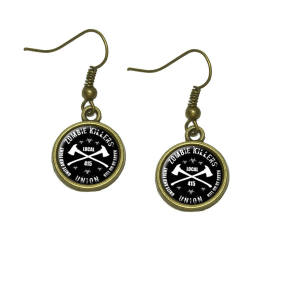 Zombie Killers Union Dangle Dangling Drop Earrings