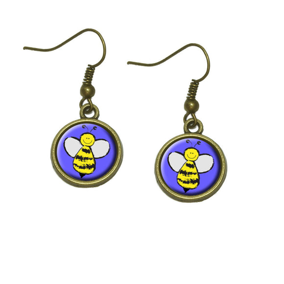 Busy As A Bee Dangle Dangling Drop Earrings