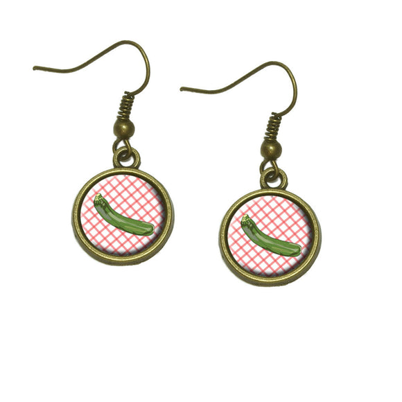Zucchini Dangle Dangling Drop Earrings
