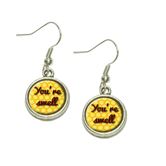 You're Swell Polka Dot Fun and Friends Dangling Drop Charm Earrings