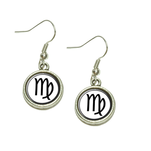 Zodiac Sign Virgo Dangling Drop Charm Earrings