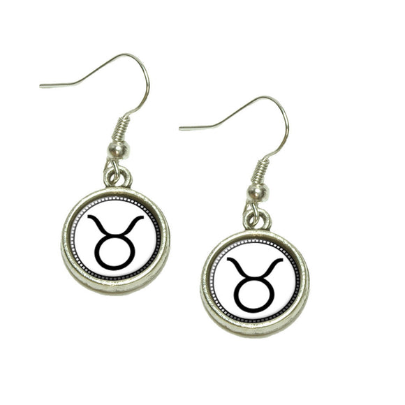 Zodiac Sign Taurus Dangling Drop Charm Earrings