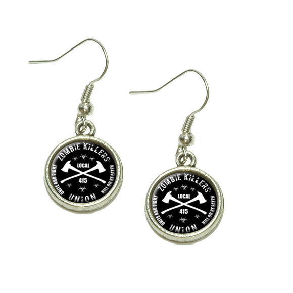 Zombie Killers Union Dangling Drop Charm Earrings