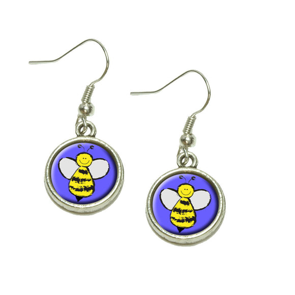 Busy As A Bee Dangling Drop Charm Earrings