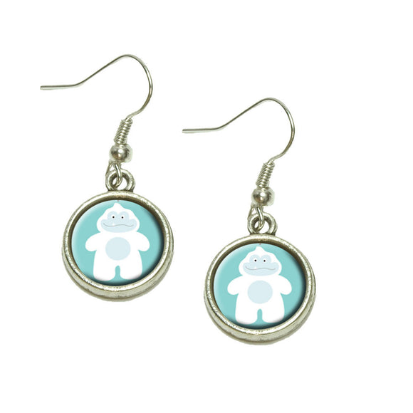 Yeti Abominable Snowman Dangling Drop Charm Earrings