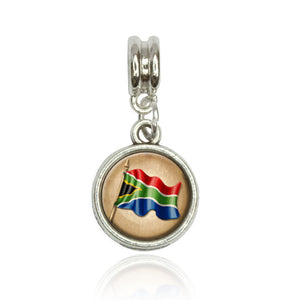 Vintage South African Flag South Africa European Style Bracelet Bead Charm