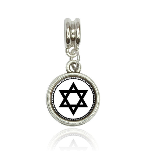 Star of David Euro European Italian Style Bracelet Bead Charm
