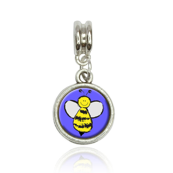 Busy As A Bee Euro European Italian Style Bracelet Bead Charm