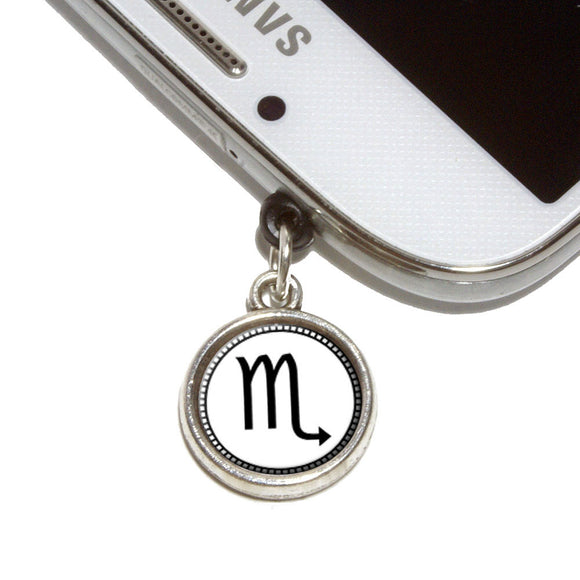 Zodiac Sign Scorpio Mobile Phone Jack Charm Universal Fits iPhone Galaxy HTC