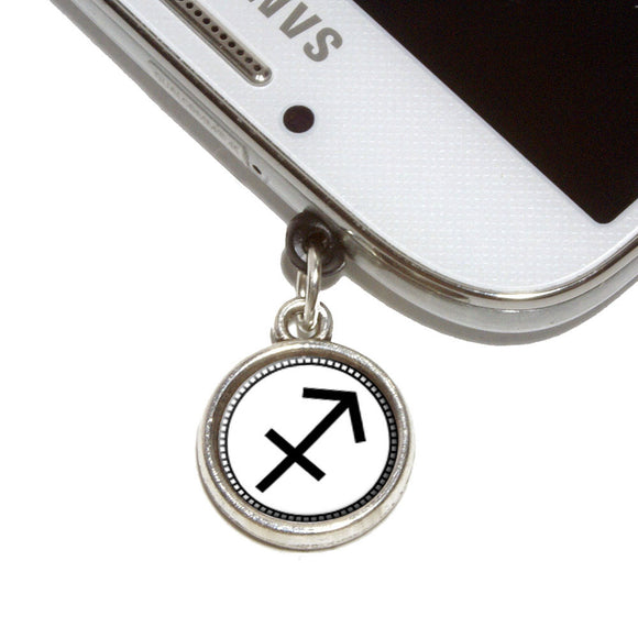 Zodiac Sign Sagittarius Mobile Phone Jack Charm Universal Fits iPhone Galaxy HTC