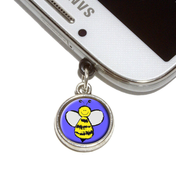 Busy As A Bee Mobile Phone Jack Charm Universal Fits iPhone Galaxy HTC