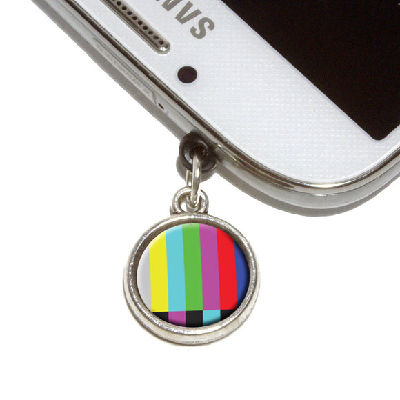 Test Television Color Bars Mobile Phone Jack Charm Fits iPhone Galaxy HTC