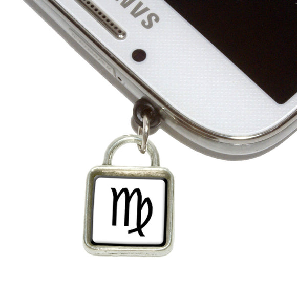 Zodiac Sign Virgo Mobile Phone Jack Square Charm Fits iPhone Galaxy HTC