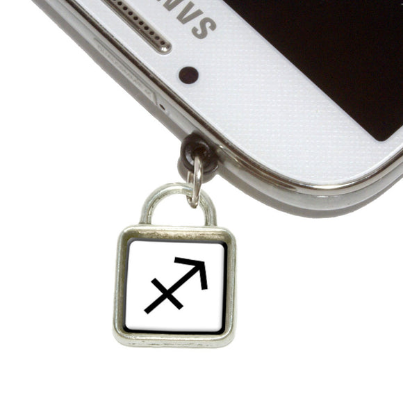 Zodiac Sign Sagittarius Mobile Phone Jack Square Charm Fits iPhone Galaxy HTC