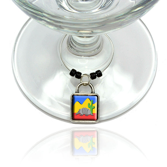 Armadillo Wine Glass Drink Marker Charm Ring