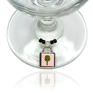 Artichoke Wine Glass Drink Marker Charm Ring