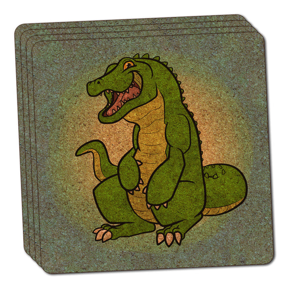 Happy Alligator Thin Cork Coaster Set of 4