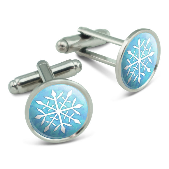 Snowflake Men's Cufflinks Cuff Links Set