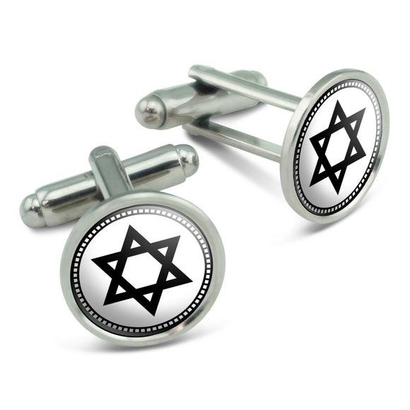 Star of David Men's Cufflinks Cuff Links Set
