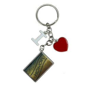 Honor Hunter Green Clouds I Heart Love Keychain Key Ring